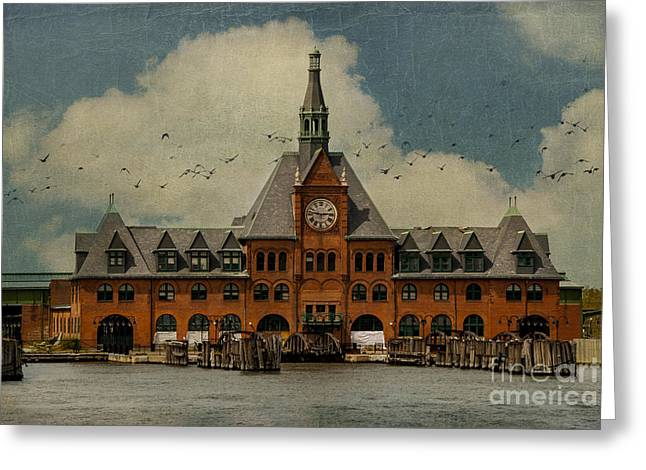 Central Railroad Of New Jersey Greeting Card by Juli Scalzi