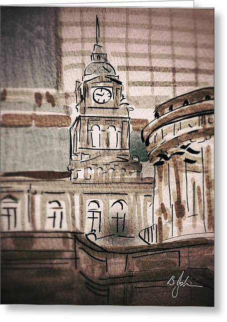 Central Station Greeting Card by Barry Johansen