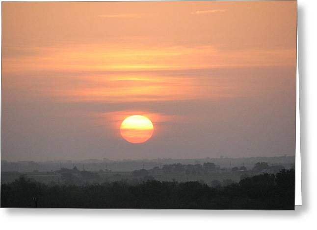 Greeting Card featuring the photograph Central Texas Sunrise by John Glass