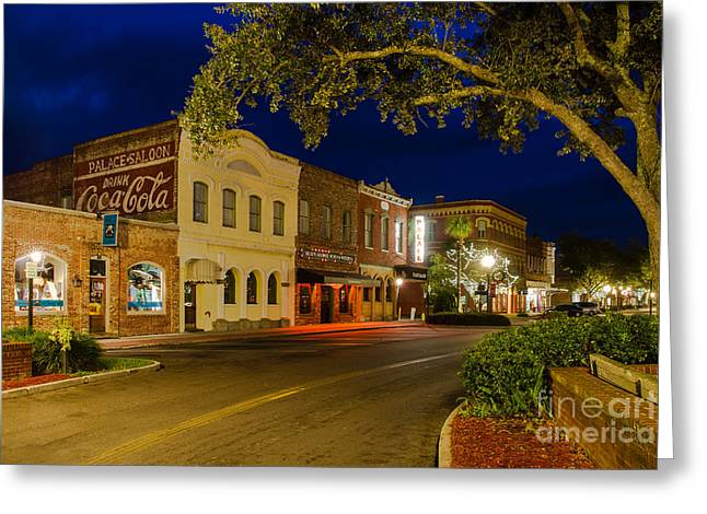 Centre Street Downtown Fernandina Florida Greeting Card by Dawna  Moore Photography