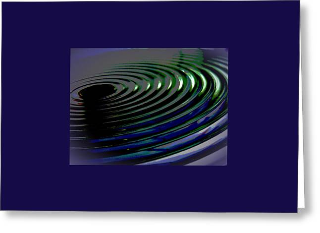 Centrifugal Abstract Greeting Card