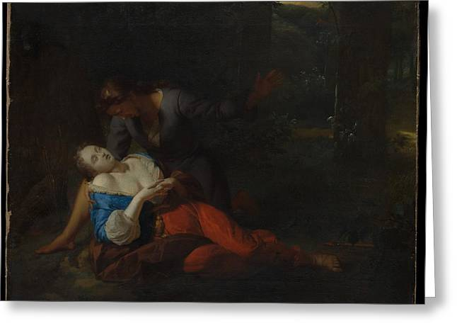 Cephalus And Procris Greeting Card by Godfried Schalcken