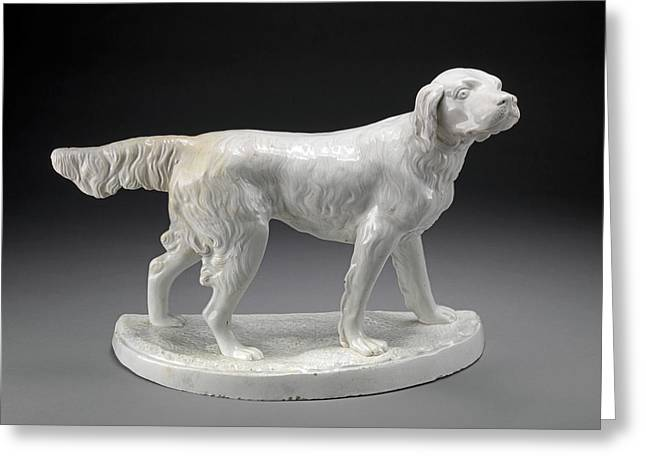 Ceramic, A Setter Standing Greeting Card by Litz Collection