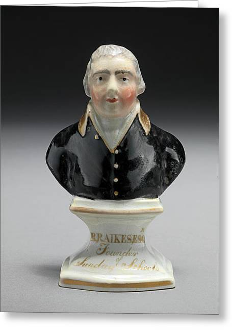 Ceramic Bust Of R. Raikes Greeting Card by Litz Collection