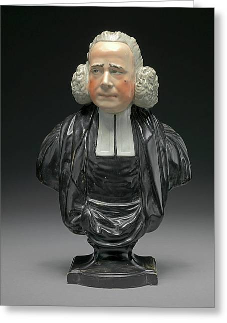Ceramic Bust Of The Reverend George Whitfield With Ruddy Greeting Card by Litz Collection