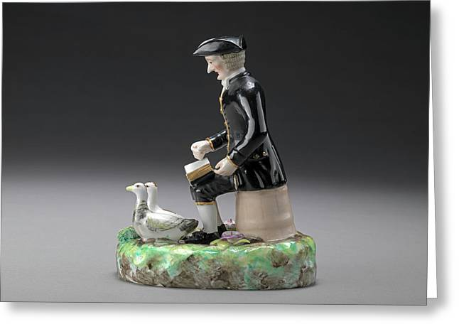 Ceramic Dr. Syntax Seated On A Bucket Sketching A Landscape Greeting Card by Litz Collection