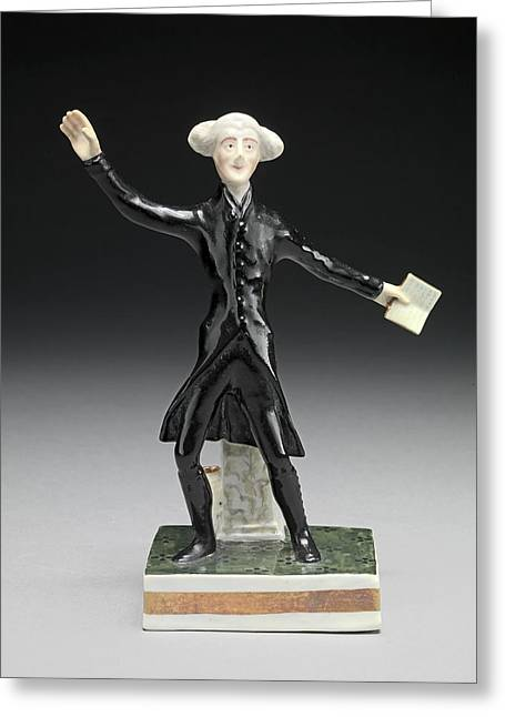 Ceramic Dr. Syntax Standing, With A Book In One Hand Greeting Card by Litz Collection