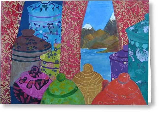 Ceramics View 2 Greeting Card by Karen Coggeshall