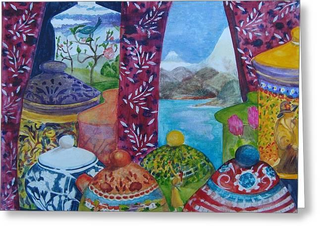 Ceramics View 3 Greeting Card by Karen Coggeshall
