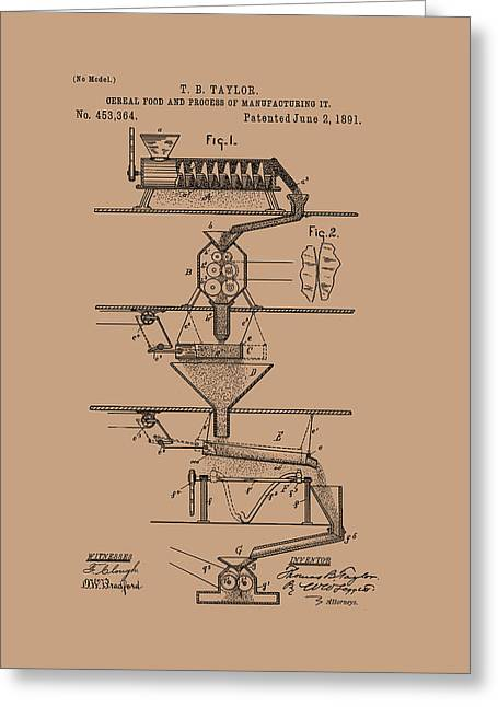 Cereal Food Manufacture Patent 1891 Greeting Card