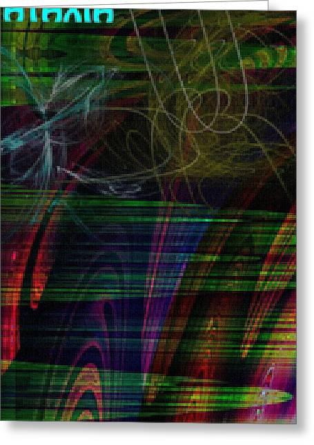 Cerebellar Ataxia Art 3 Greeting Card by Sandra Pena de Ortiz