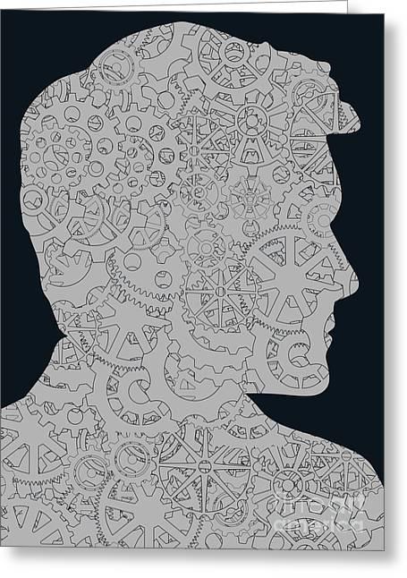 Cerebral Activity In Man Greeting Card