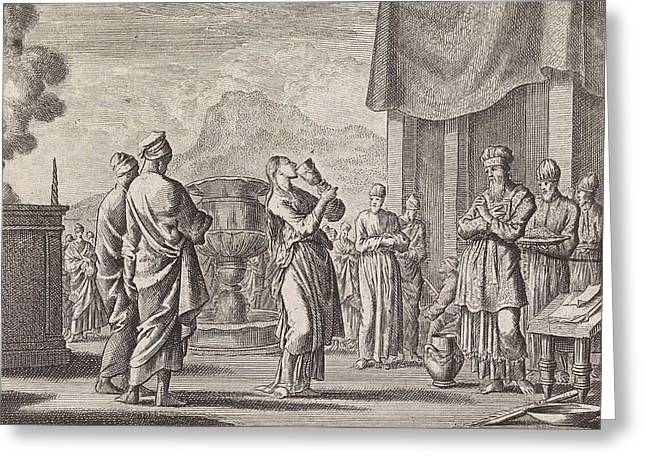 Ceremony Which Tests Female Infidelity, Jan Luyken Greeting Card