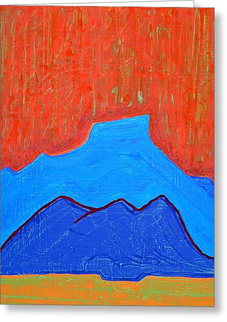 Cerro Pedernal Original Painting Sold Greeting Card
