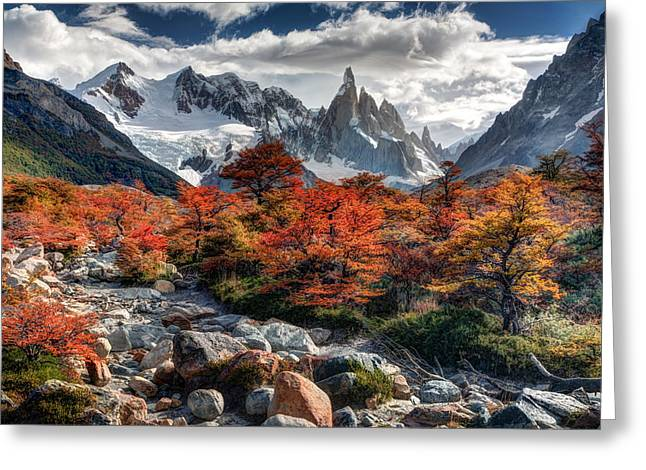 Cerro Torre 3 Greeting Card by Roman St