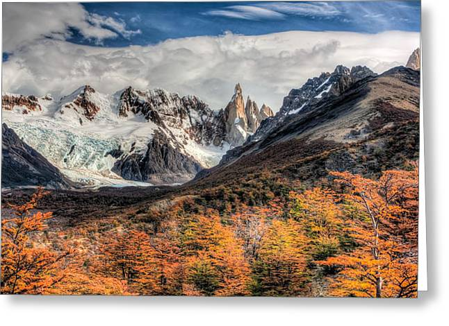 Cerro Torre Greeting Card by Roman St