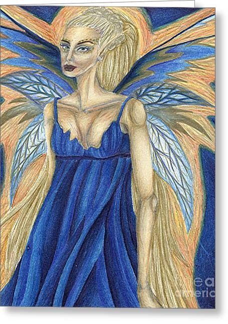 Cerulean Queen Greeting Card by Coriander  Shea