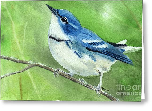 Cerulean Warbler Greeting Card