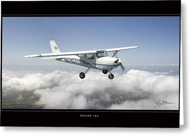 Cessna 152 Greeting Card by Larry McManus