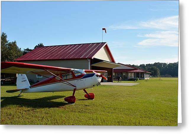 Cessna At The Ranch Greeting Card