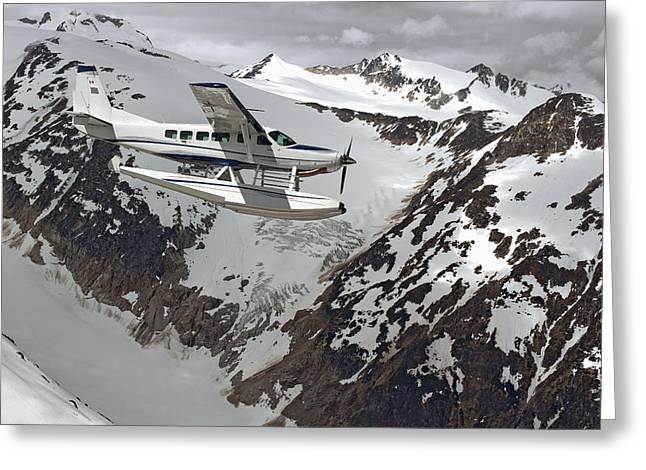 Cessna Caravan Amphibian Seaplane Greeting Card by Brechin Maclean