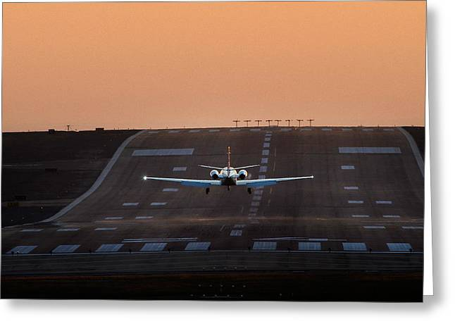 Cessna Citation On Short Final Greeting Card
