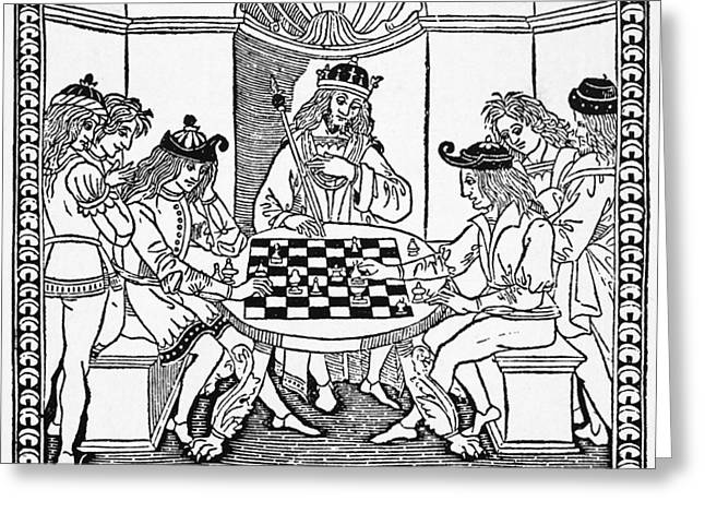 Cessolis Chess, 1493-1494 Greeting Card by Granger