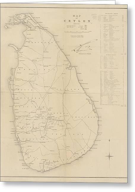 Ceylon Greeting Card by British Library