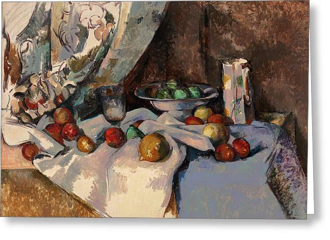 Cezanne Nature Morte Greeting Card by Granger