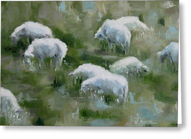 Cezanne Sheep Greeting Card