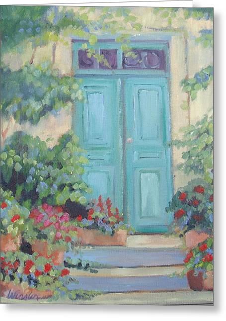 Cezanne's Art Studio Greeting Card by Linda  Wissler