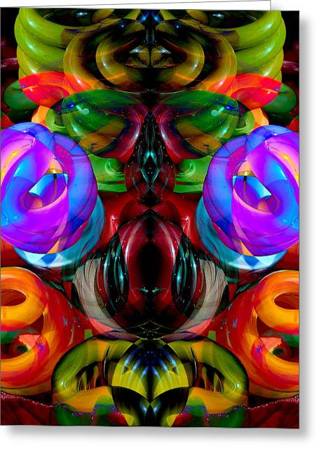 Cfl Light Bulb Art - 024 Greeting Card by Jeffrey OSullivan