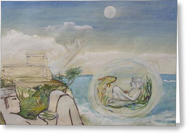 Chacmool Dream Of Tulum Greeting Card