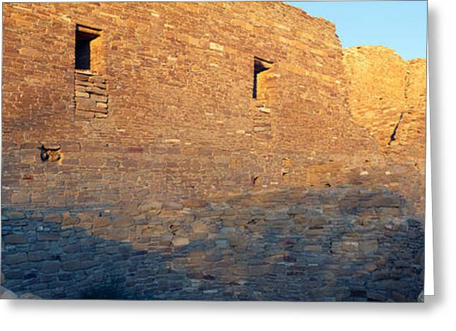 Chaco Canyon Indian Ruins, Sunset, New Greeting Card by Panoramic Images