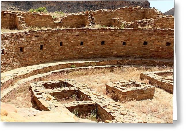 Chaco Ruins Greeting Card by Elizabeth Sullivan