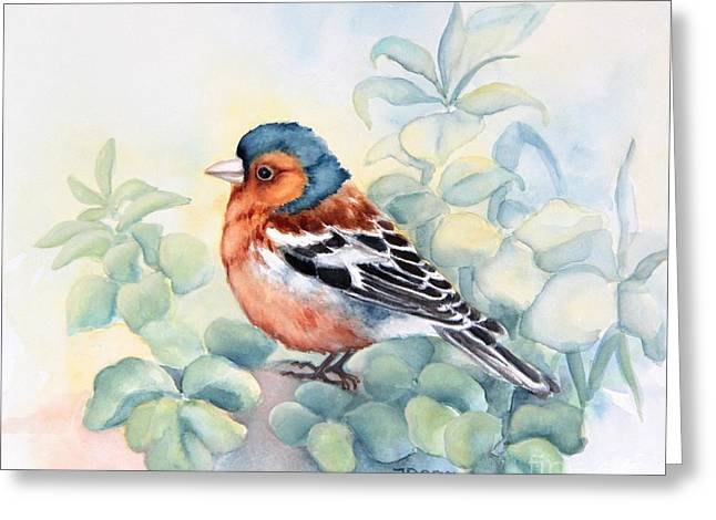 Chaffinch In Grass Greeting Card