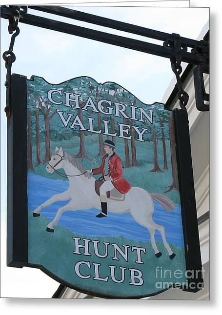 Chagrin Valley Hunt  Club 2 Greeting Card by Michael Krek