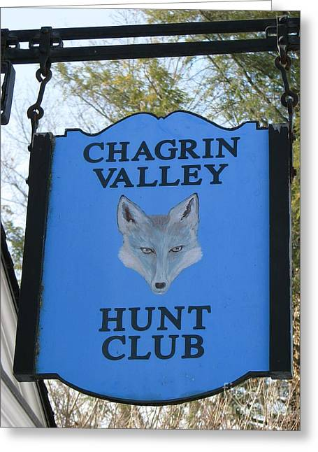 Chagrin Valley Hunt Club Greeting Card by Michael Krek
