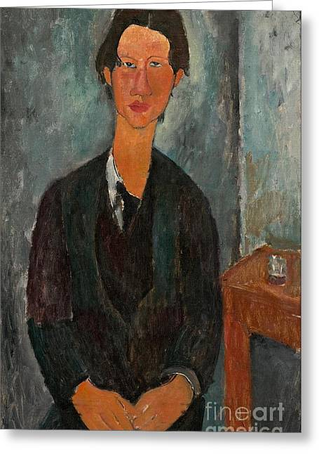 Chaim Soutine Greeting Card by Amedeo Modigliani
