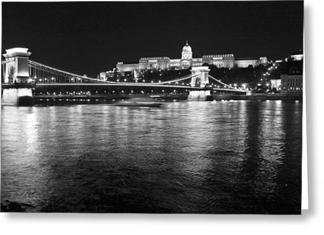 Chain Bridge-budapest Greeting Card