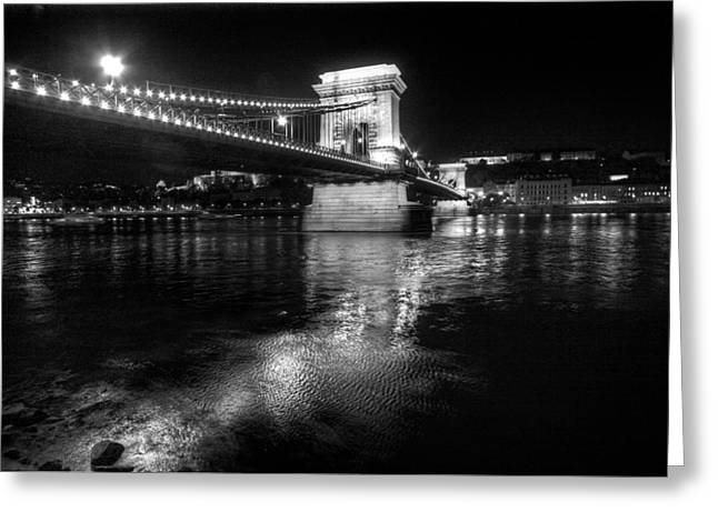 Chain Bridge Danube River Greeting Card