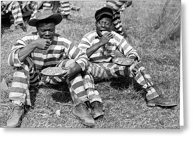 Chain Gang Lunch Time Greeting Card by Underwood Archives