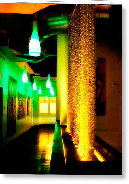 Chain Lighting Greeting Card by Melinda Ledsome