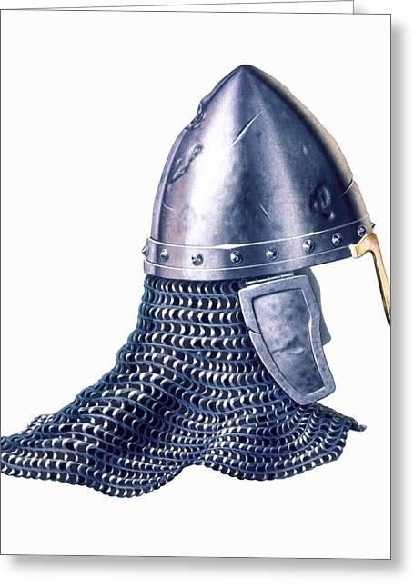Chain Mail And Helmet Greeting Card
