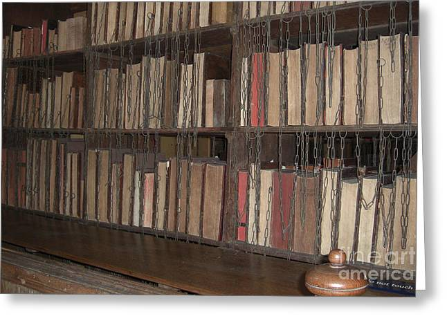 Chained Library At Hereford Cathedral Greeting Card by Deborah Smolinske