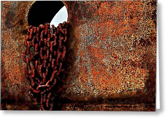 Chained To The Past And Rusted Greeting Card