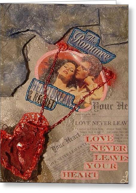 Greeting Card featuring the painting Chains Of Love by Lisa Piper
