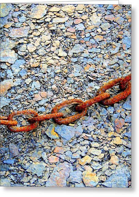 Chains That Bind Greeting Card by Marcia Lee Jones