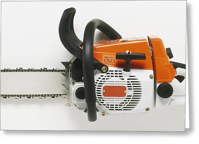 Chainsaw Greeting Card by Dave King / Dorling Kindersley / Andreas Stihl Ltd