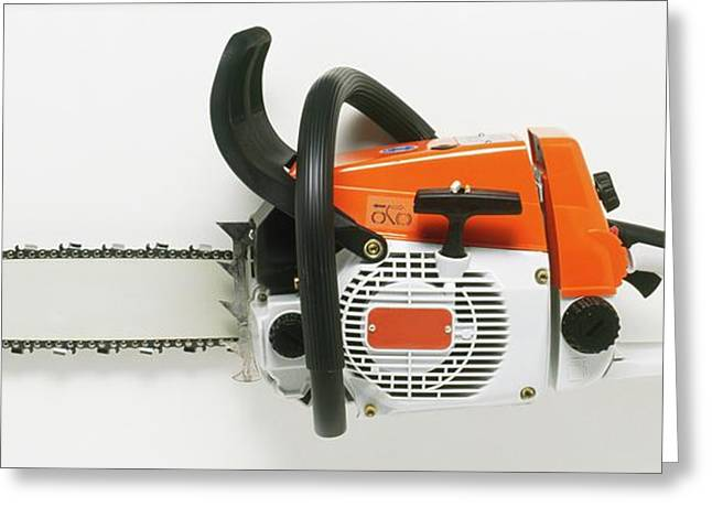 Chainsaw Greeting Card by Dorling Kindersley/uig